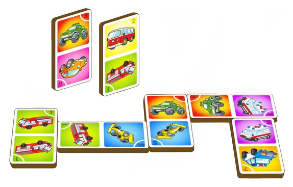 Купить Логическая игра СИБИРСКИЙ СУВЕНИР Домино - машины, Сибирский сувенир, Логические игры