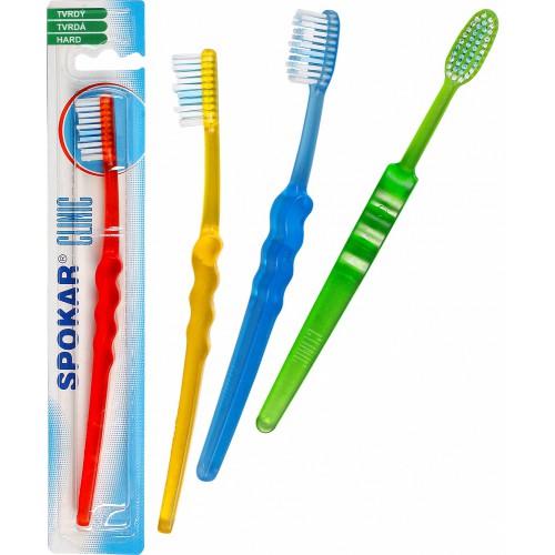 Зубная щетка SPOKAR CLINIC с террасированным щеточным полем, твердой жесткости щетина