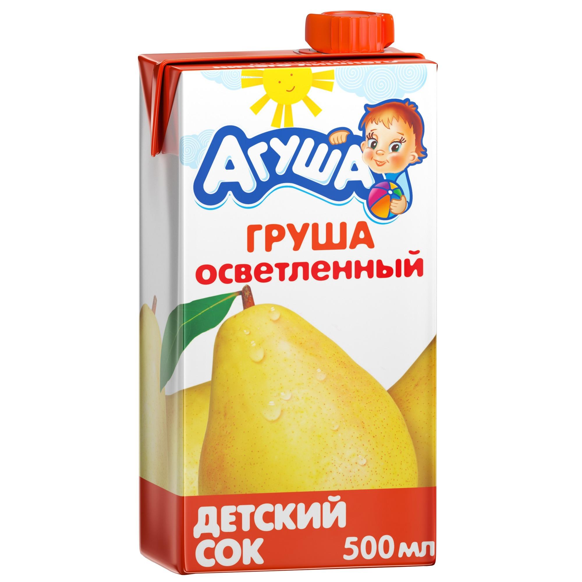 Сок Агуша Груша с 3 лет