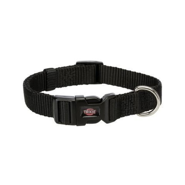 Ошейник для собак TRIXIE Premium, черный, XXS–XS, 15–25см, 10мм