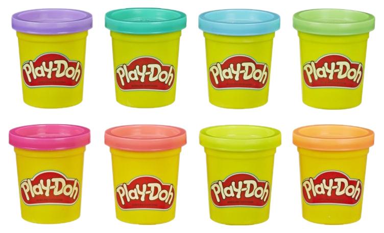 Купить Набор пластилина Play-Doh - Неон, 8 цветов Hasbro, Лепка