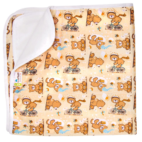 Купить Впитывающая пеленка GlorYes! Медвежонок 80х68 см, Пеленки