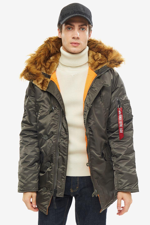 Куртка мужская Alpha Industries 103141 серая S
