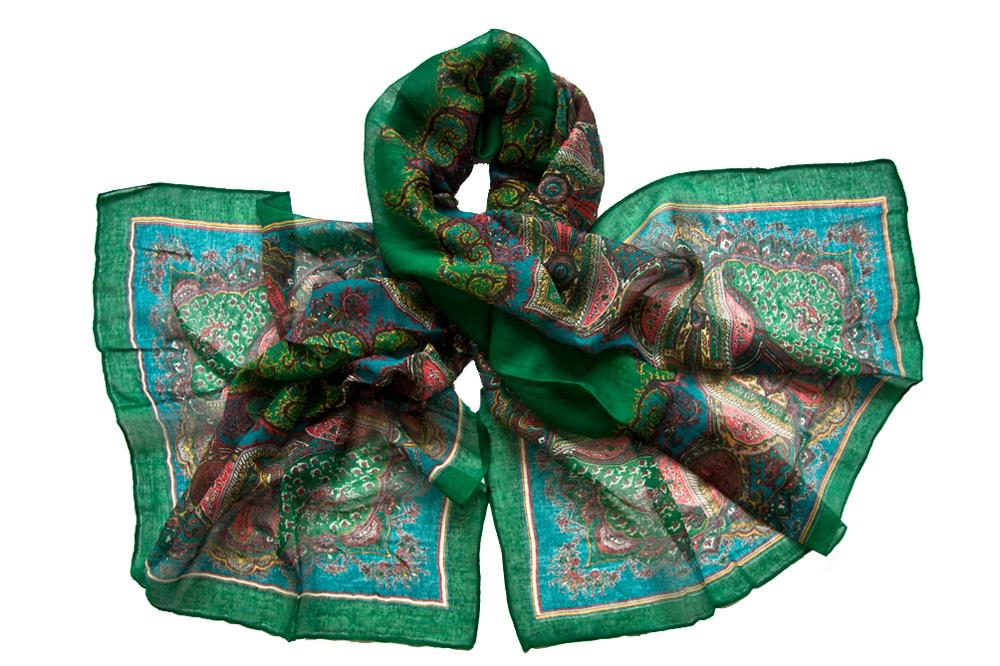 Палантин женский Tranini 356 зеленый