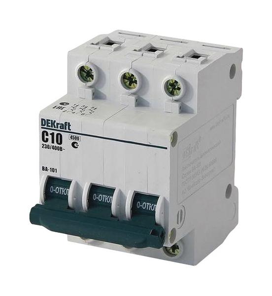 Автоматический выключатель 3Р 10А Schneider Electric DEKraft, арт. 11077DEK фото