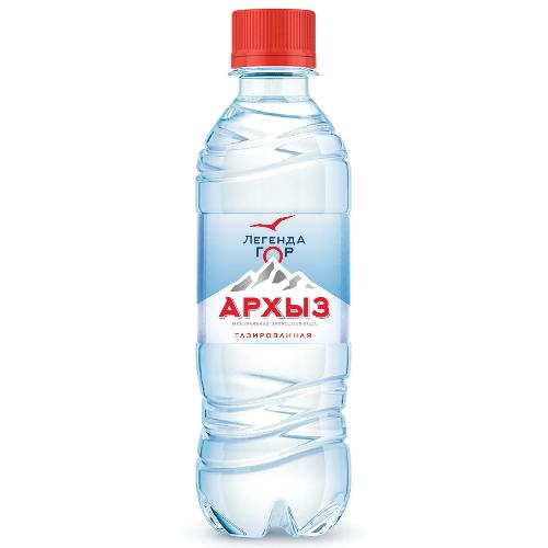 Минеральная вода Легенда  Гор Архыз газированная пластик 0.5 л 12 штук