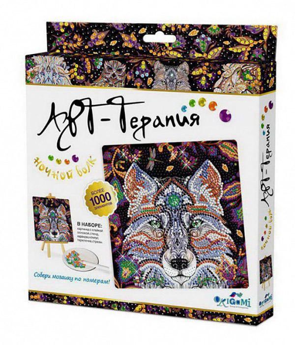 Купить Мозаика-Алмазные узоры. Ночной Волк 20х20 см, Origami, Мозаики