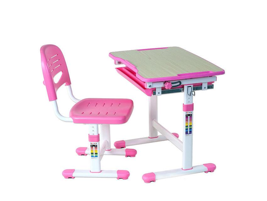 Парта со стулом Fun Desk PICCOLINO Pink