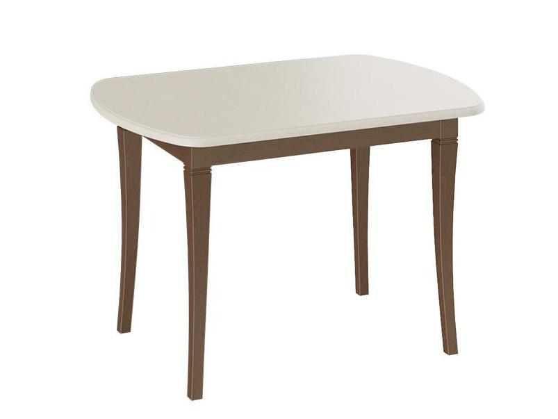 Обеденный стол ТриЯ Стол Альт Орех темный / Слоновая кость, Средний