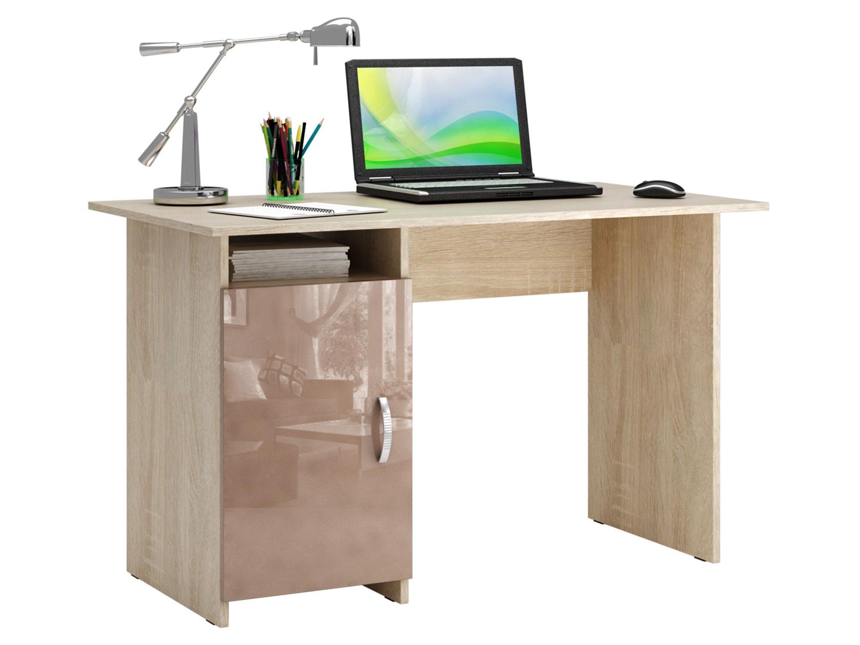 Письменный стол МФ Мастер МСТ-СДМ-08-ГЛ Милан-8 глянец дуб сонома, капучино глянец