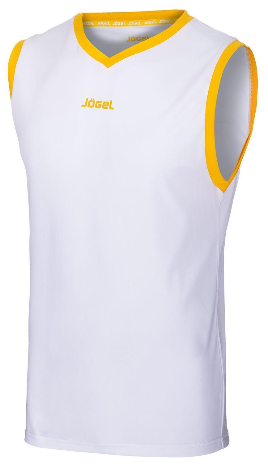 Майка баскетбольная JBT 1020 014, белый/желтый, детская