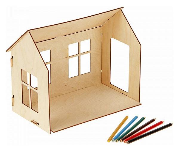 Купить Кукольный домик, раскраска, ТИМБЕРГРУПП, Деревянные конструкторы