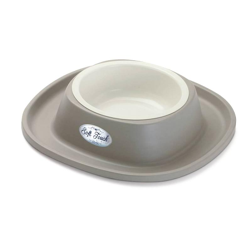 Миска Georplast Soft Touch пластиковая в мягкой пластиковой подставке для кошек (600 мл, )