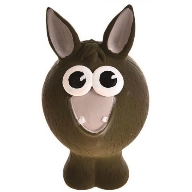 Жевательная игрушка для собак HOMEPET Ослик с пищалкой, 13 см