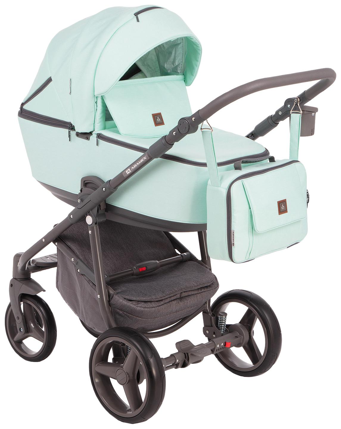 Купить Коляска 2 в 1 Adamex Barcelona BR-43 цвет мятный, Детские коляски 2 в 1