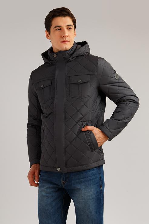 Куртка мужская Finn Flare B19-22001 серая XL фото