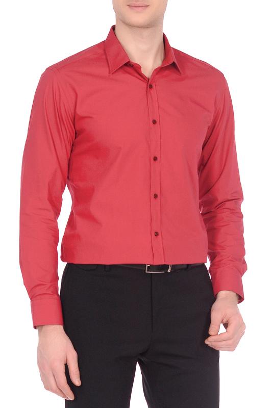Рубашка мужская KarFlorens 10600-58 красная S