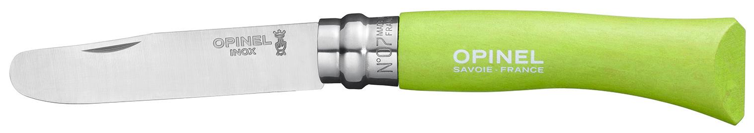 Туристический нож Opinel 001971 №7 My First Opinel Apple-Green