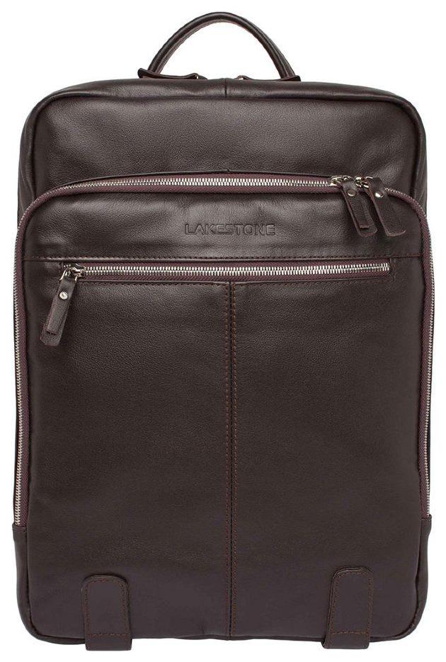 Рюкзак кожаный Lakestone Salmon коричневый 10 л фото