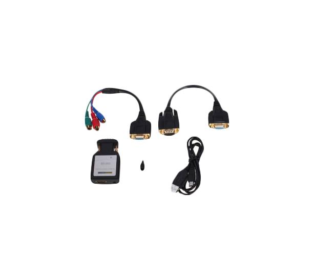 Переходник для кабеля Vconn HDMI в VGA+YPbPr