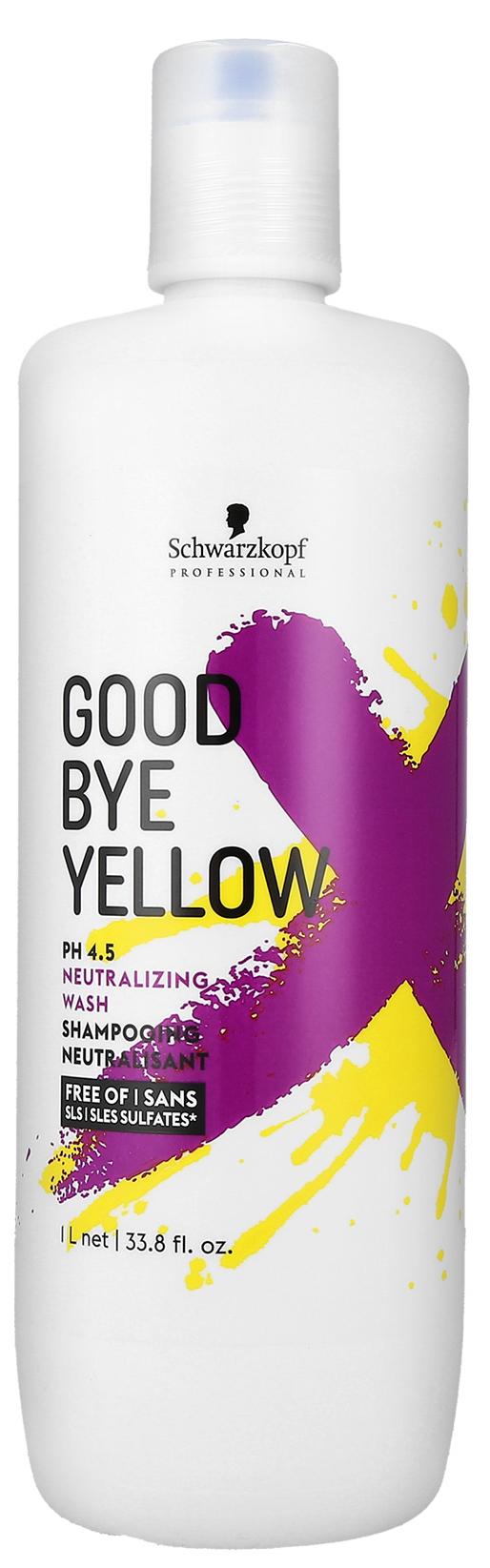 Купить Шампунь Schwarzkopf Professional Goodbye Yellow Shampoo 1000 мл