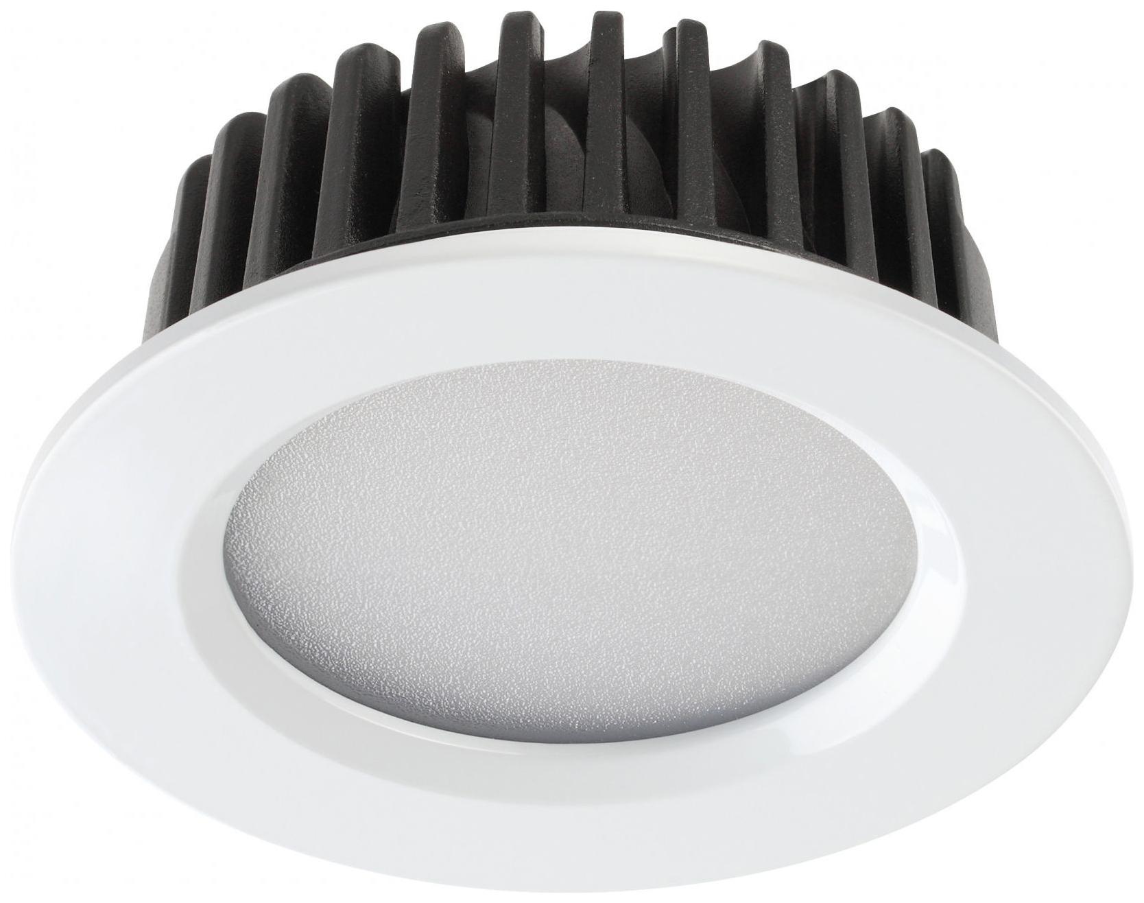 Встраиваемый светодиодный светильник Novotech Drum NT18 000 357600 Белый