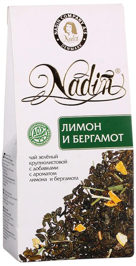 Чай зеленый листовой Nadin лимон и бергамот 50 г