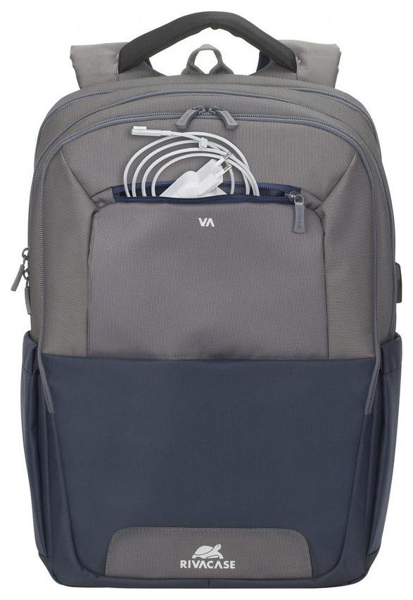 Рюкзак для ноутбука RIVACASE Suzuka 7777 Стально-синий/Серый 17,3\