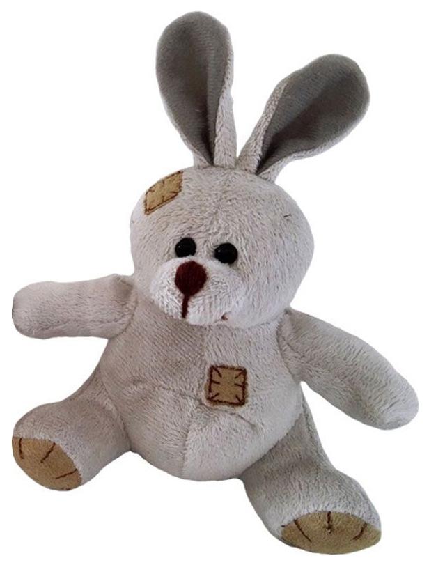 Купить Мягкая игрушка ABtoys Зайчик с заплатками коричневый, 12 см, Мягкие игрушки животные