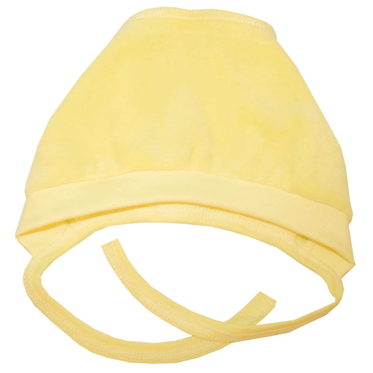 Чепчик Папитто желтый однотонный р.48 И53 123