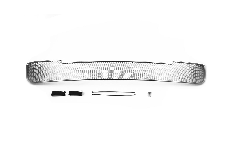 Сетка на бампер внешняя arbori для Hyundai Solaris 2011-2014, хром, 10 мм