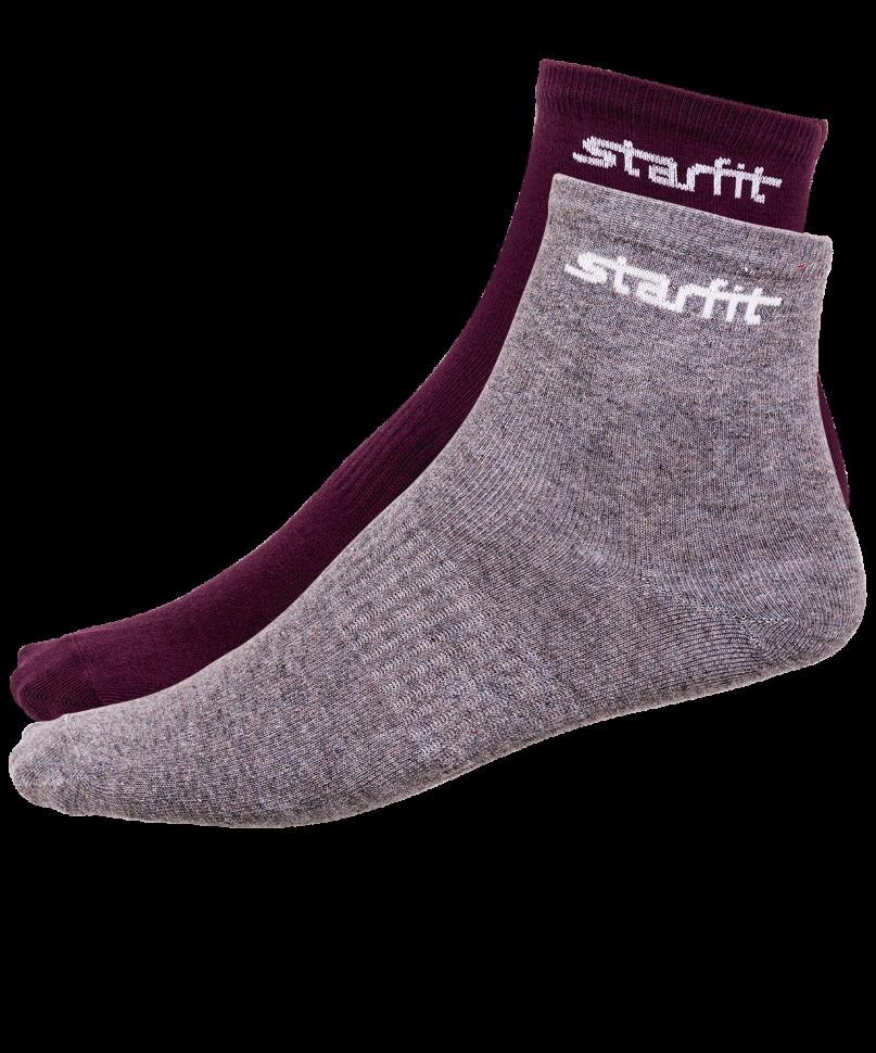 Носки StarFit SW-206, бордовые/серый меланж, 35-38 EU
