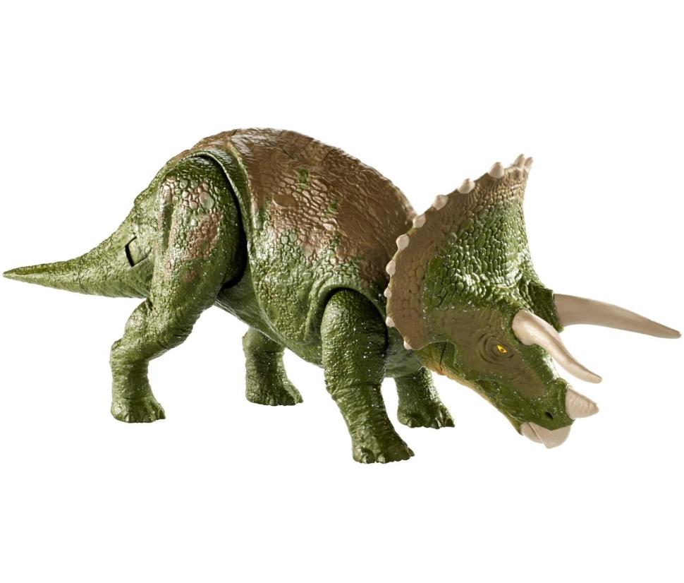Купить Фигурка динозавра Jurassic World Двойной удар Трицератопс, Фигурки животных