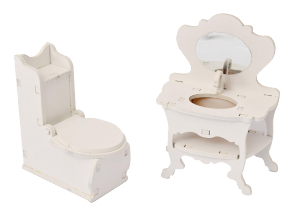 Мебель для кукол Одним прекрасным утром Туалетная комната