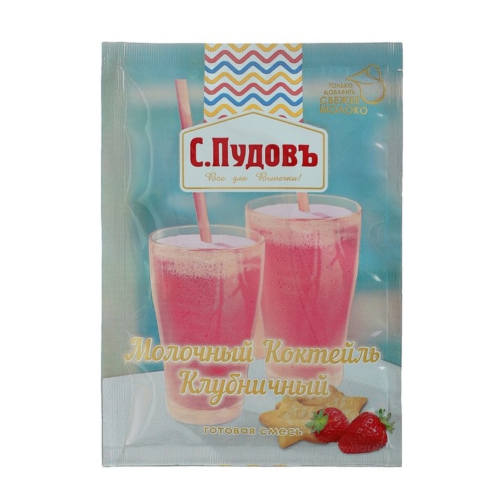 Молочный коктейль клубничный С.Пудовъ 30 г фото