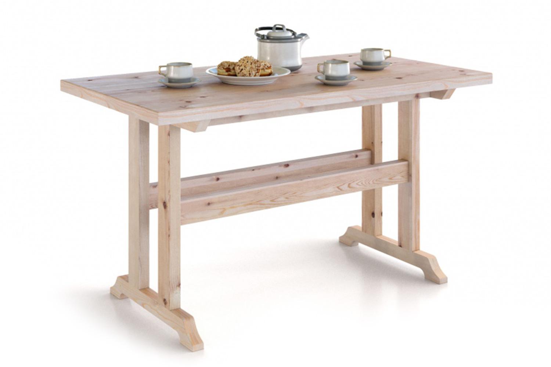 Кухонный стол Hoff 77,7х140х75 см, коричневый