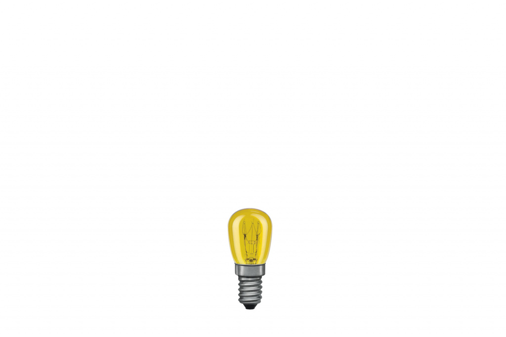Лампа накаливания Paulmann 230V 15W Е14 Груша (D-25mm, H-60mm) желтый 80012