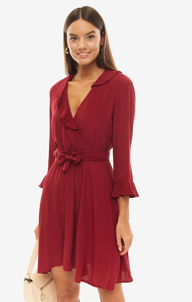 Платье женское Liu Jo W69337T0199 X0198 красное 46 IT фото