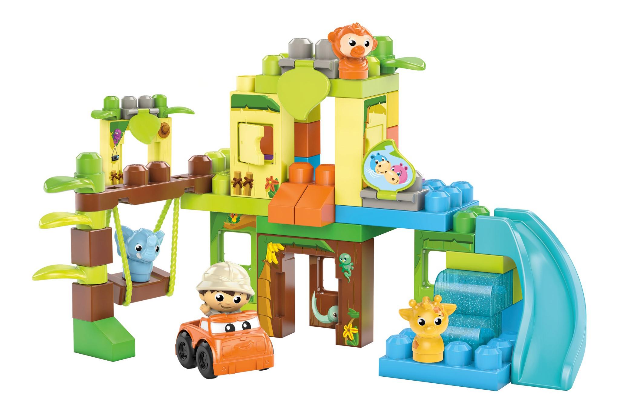 Купить Приключения в джунглях, Конструктор пластиковый приключения в джунглях, Mega Bloks, Конструкторы пластмассовые