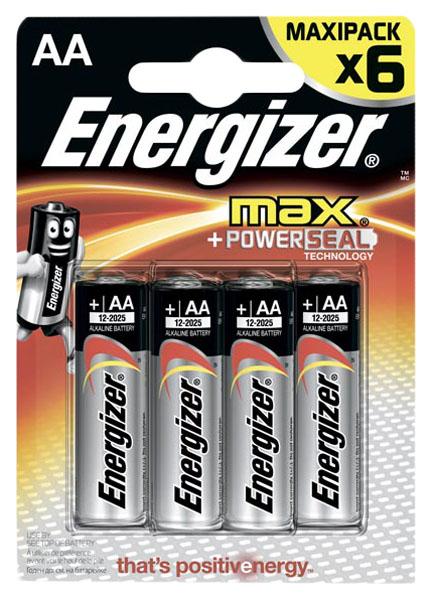 Батарейка Energizer AA-LR6 6 шт