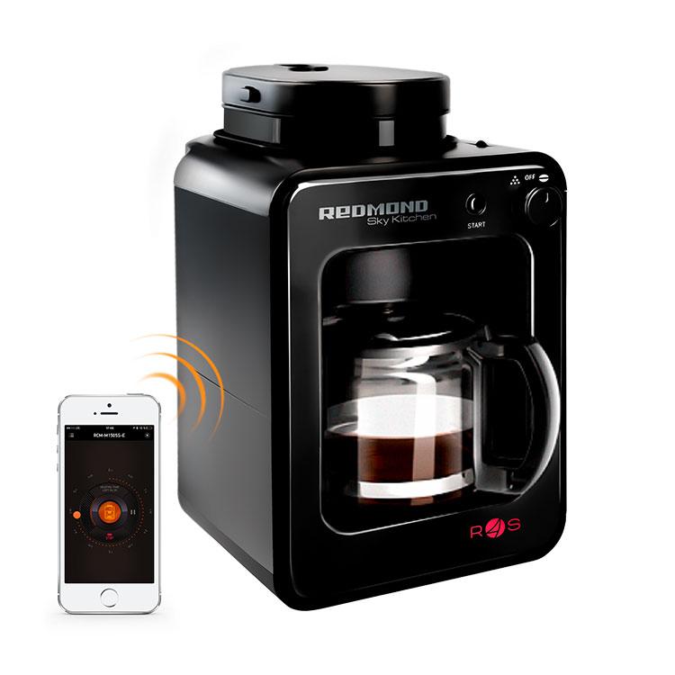 Умная кофеварка со встроенной кофемолкой Redmond SkyCoffee