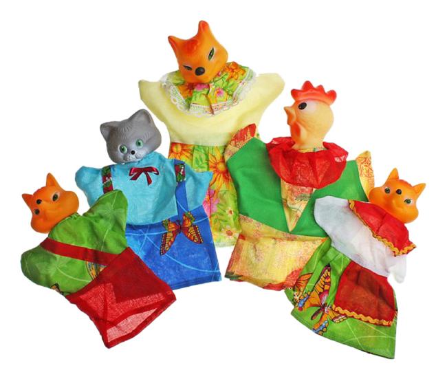 Игровой набор Русский Стиль Кукольный театр Кот Петух и Лиса 11208