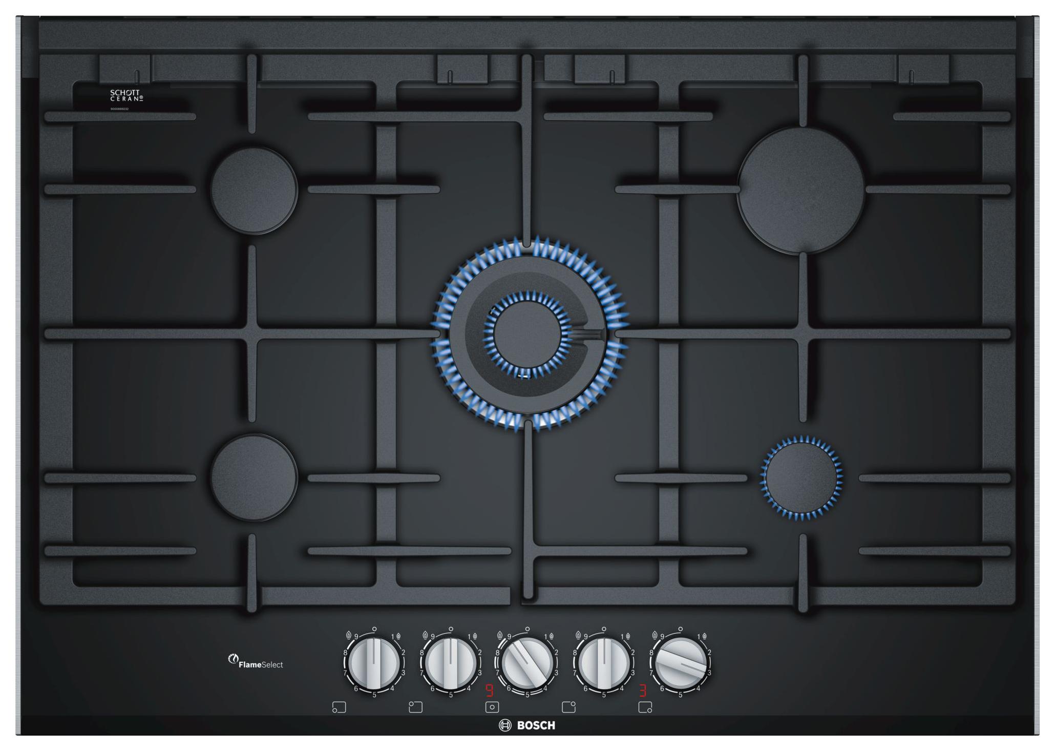Встраиваемая варочная панель газовая Bosch PRR7A6D70 Black