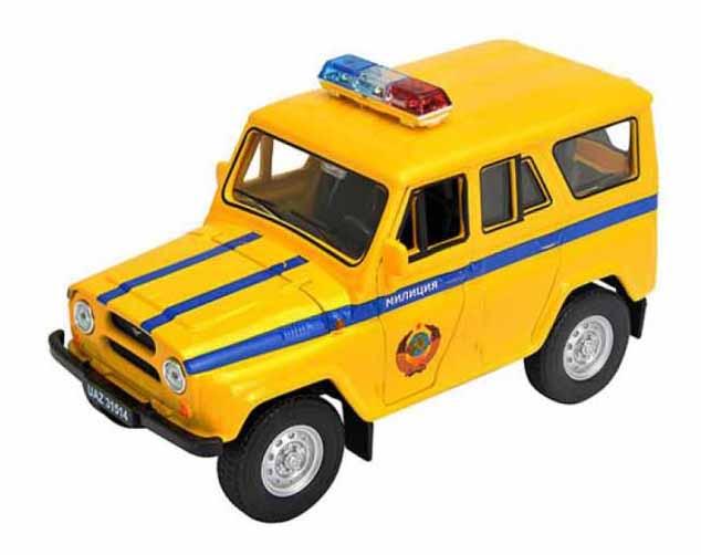 Купить Машинка инерционная Welly 42380RT Модель машины Welly 1:34-39 УАЗ 31514 Милиция, Спецслужбы