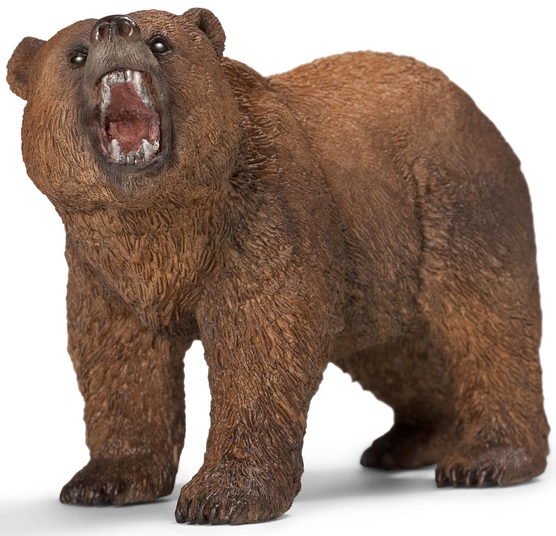 Купить Grizzly Bear, Фигурка Schleich Медведь Гризли. самец коричневый (14685), Фигурки животных