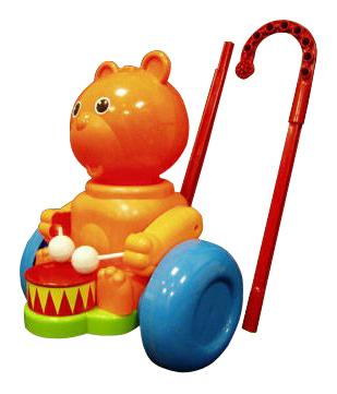 Купить Каталка детская Форма Каталка Мишка - барабанщик ,