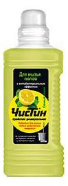 Универсальное чистящее средство для мытья полов Чистин сочный лимон 1000 г.