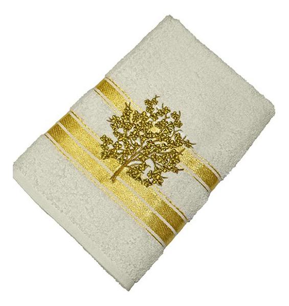 Банное полотенце Aisha бежевый, золотистый