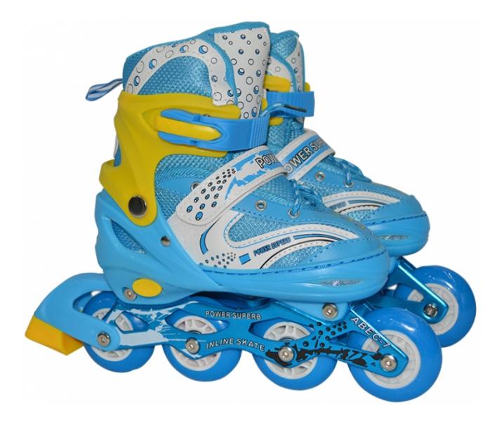 Роликовые коньки раздвижные детские Navigator L (38-41) голубые