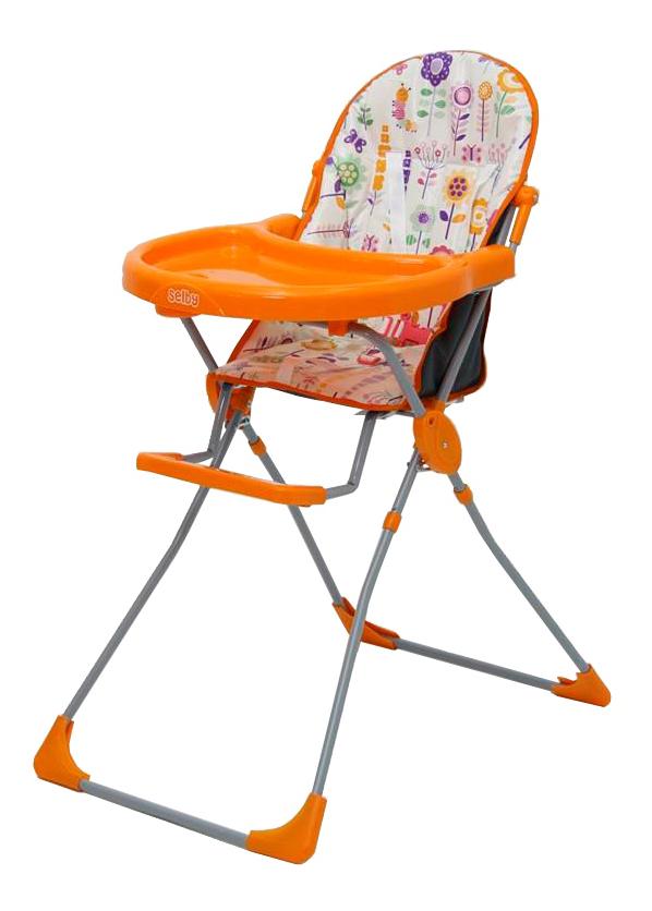 Купить Стульчик для кормления Тополь Selby 152 Яркий луг оранжевый, Стульчики для кормления